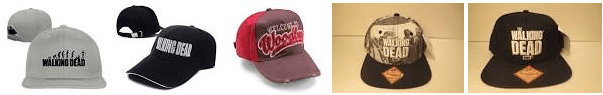 the walking dead baseball caps