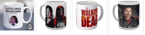 the walking dead mugs