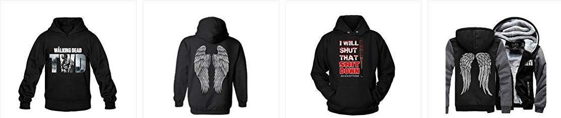 walking dead unisex hoodies