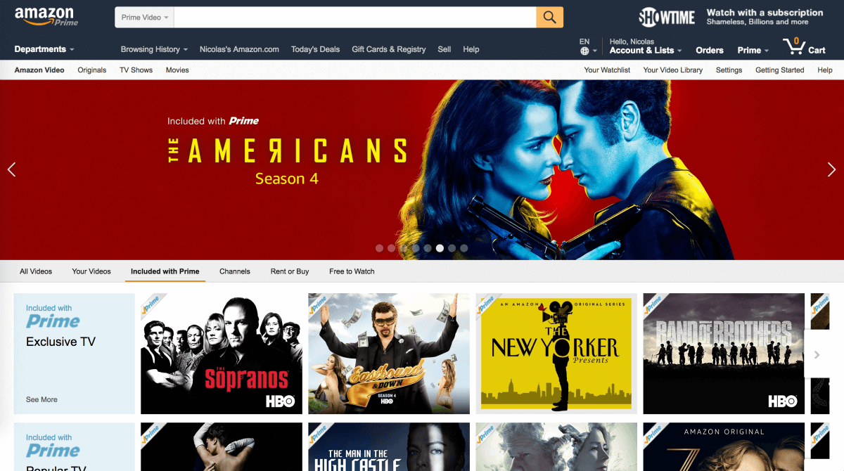Amazon Video — 30-day free trial, 6 months for students