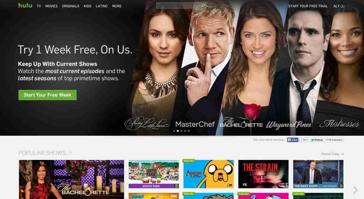 Hulu — 7-day free trial